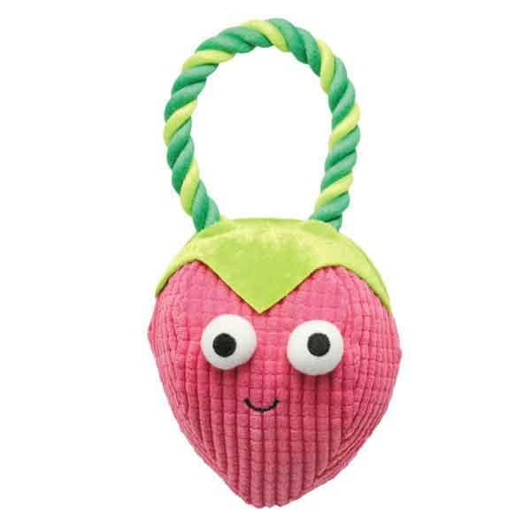 US1430 23 Strawberry Grriggles Happy Fruit Rope Dog Toy