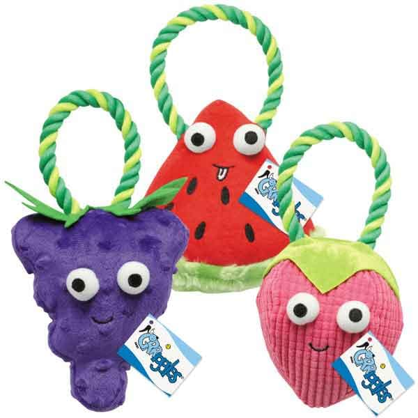 Grriggles Happy Fruit Rope Dog Toy