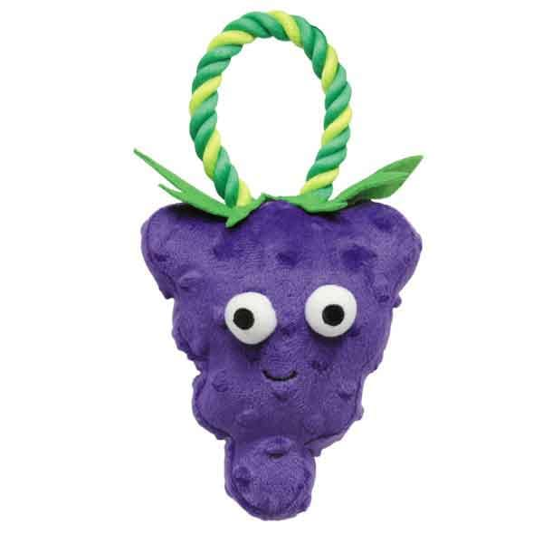 Grape US1430 22 Grriggles Happy Fruit Rope Dog Toy